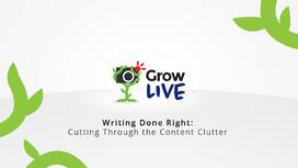 Content Writing Advice for Marketing Managers - Grow Live Episode 4