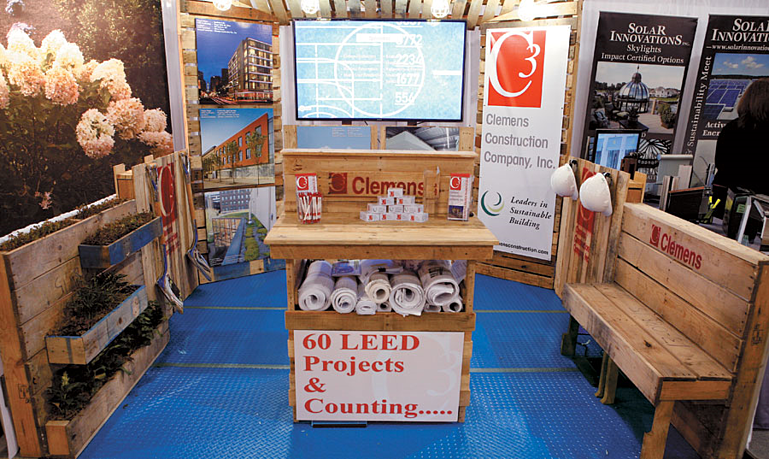 Clemens Construction Trade Show Booth