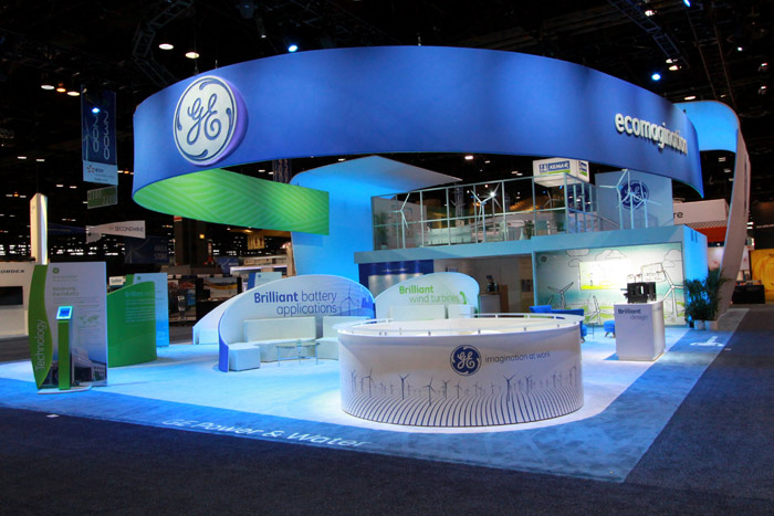 GE's ecomagination trade show booth